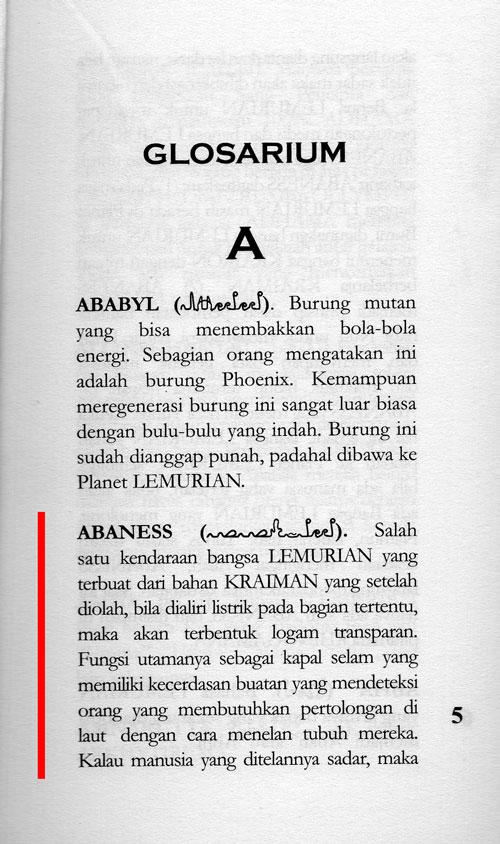 Penjelasan ABANESS di Glosarium Novel ARKHYTIREMA Buku Kesatu -1