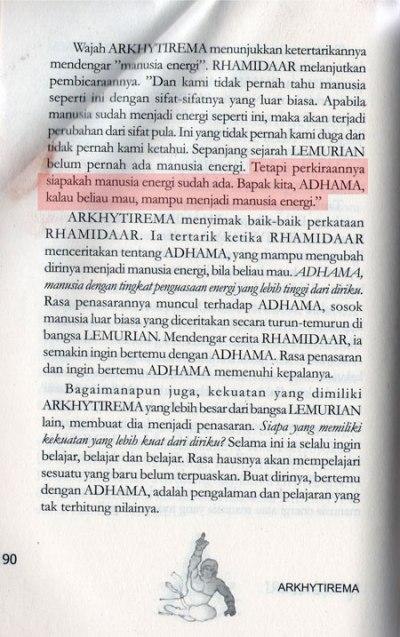 Nabi Adam as (ADHAMA) bisa berubah menjadi manusia energi jika mau
