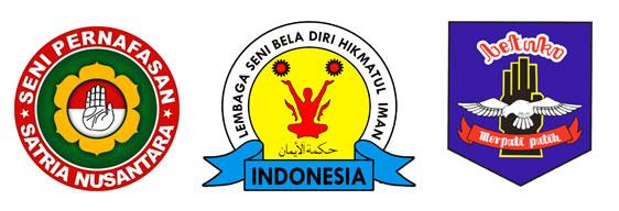 Logo: Satria Nusantara, Hikmatul Iman, Merpati Putih.