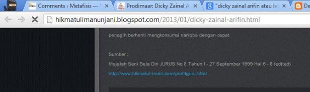Sumber : Majalah Seni Bela Diri JURUS No 8 Tahun I - 27 September 1999 Hal 6 - 8 (edited) http://www.hikmatul-iman.com/profilguru.html
