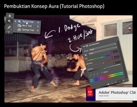Pembuatan aura Dicky di Photoshop.