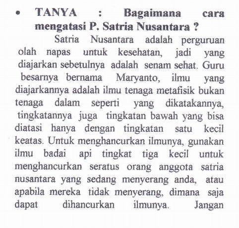 Mengatasi Satria Nusantara.