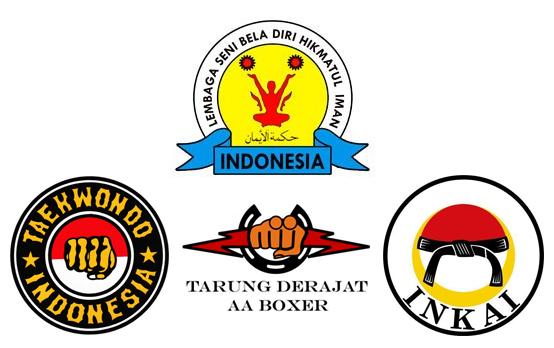 Logo: Hikmatul Iman, Tae Kwon Do, Boxer, Inkai.