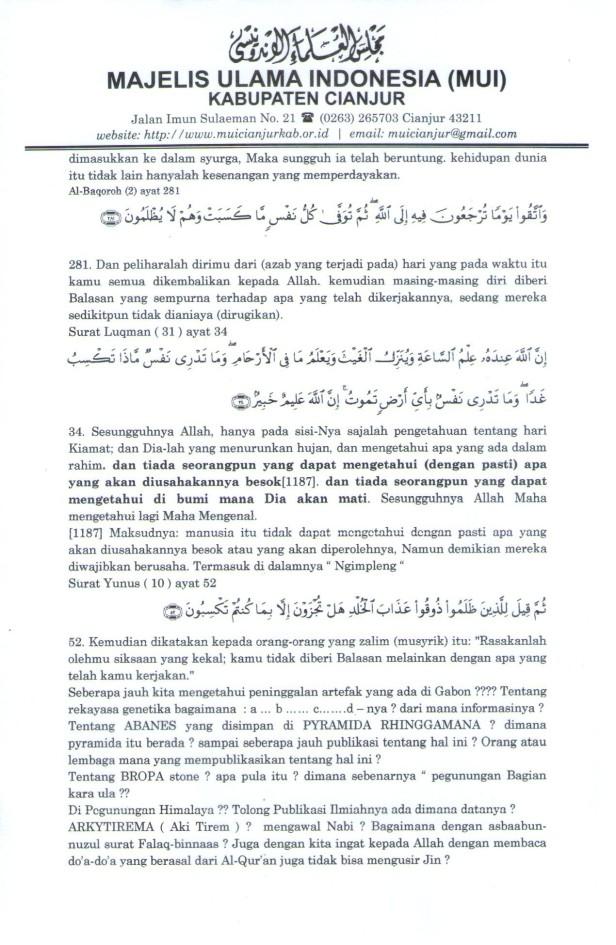 """Lampiran """"Koreksi terhadap Hikmatul Iman"""" Hal 2"""
