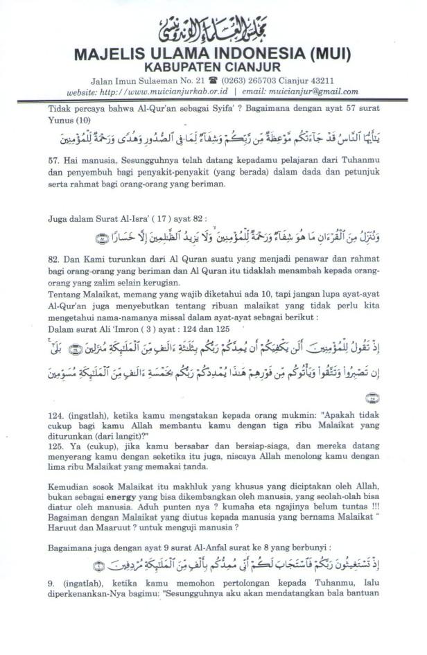 """Lampiran """"Koreksi terhadap Hikmatul Iman"""" Hal 3"""