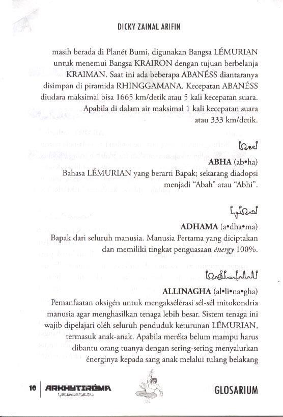 Glosarium Arkhytirema Buku Kesatu edisi 2 - Entri Adhama dan Abaness diedit.