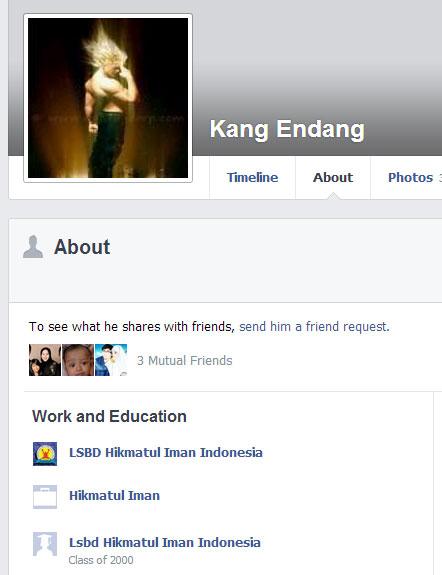 Kang Endang, murid Hikmatul Iman.