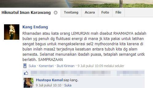 Rhamadya, Ramadhan versi Lemurian.